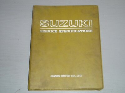 SUZUKI MOTORCYCLE SERVICE SPECIFICATIONS MANUAL