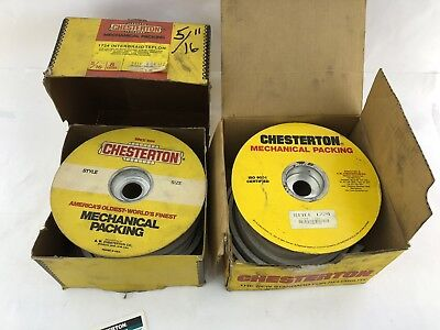 Lot Of 2 Boxes Chesterton 1722 White-lon 516 8mm Interbraid Mechanical Packing