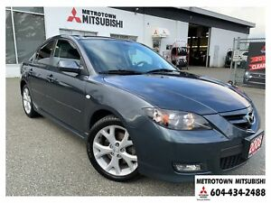 2008 Mazda Mazda3 GT; Local & No accidents! LOW KMS!