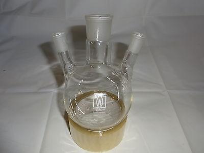 Dreihalskolben 500 ml Destille  NEU Laborglas Laboreinrichtung Laborzubehör  gebraucht kaufen  Bad Dürrenberg