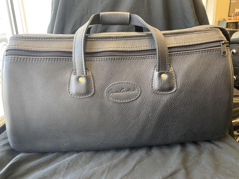 Glenn Cronkhite Pebbled Black Leather Triple Trumpet Bag