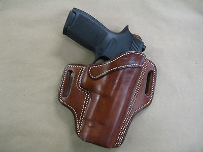Sig Sauer P 250 / 320 Compact OWB Leather 2 Slot Pancake Belt Holster CCW TAN RH for sale  Shipping to Canada