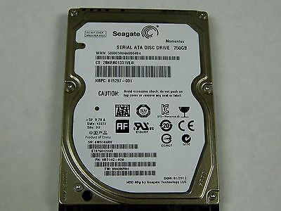 750GB laptop hard drive SATA  Seagate ST9750420AS