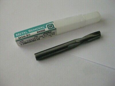 Metal Removal Carbide Slow Spiral Flute Drill 1764 140 M43433 Usa