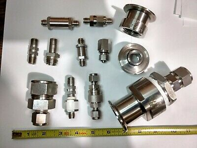 Lot Of Nupro Swagelok Stainless Fittings Couplings Valves Filters