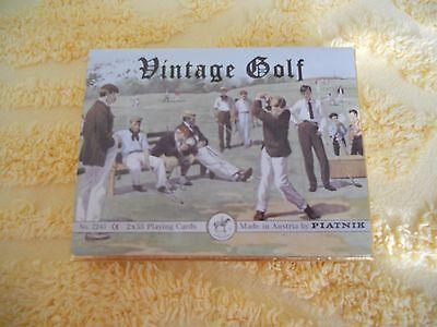 Piatnik Vintage Golf Playing Cards - Box of 2 Decks - Decks are Factory Sealed