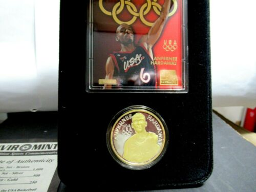 Rare Anfernee Hardaway MEDAL, Only 250 Minted, 1 Oz Fine Silver 24K GOLD OVERLAY