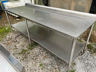 Heavy Duty 96 X 31.5 Commercial Stainless Steel Kitchen Work Prep Table Nsf