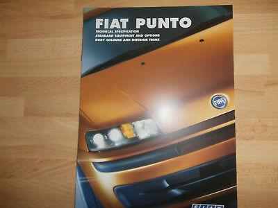 Fiat Punto 1999 UK Sales Tech Spec Brochure.HGT Sporting HLX ELX Base.  Rare