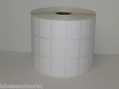 "1 Roll of 9000 1.25x.875 Blank UPC DIRECT THERMAL ZP450 3-Across 1"" core Labels"