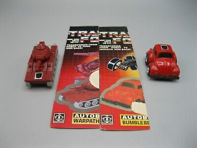 Lot of 2 1985 Transformers More Than Meets The eye G1 Red Bumblebee &