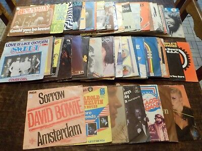 "Lot de 57 Disques / Vinyles - 7"" - 45 tours Anglais - English - 5 photos - (22)"