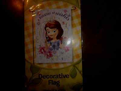 Disney Sophia the First  A Bouquet of Wishes  Decorative Garden Flag   - Sophia The First Decorations