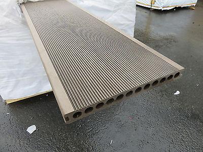 Bambus Dielen (15 m² BPC Terrassendielen Bangkirai Braun Bambus Holz Terrassenholz Balkon WPC)