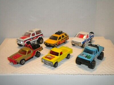 Matchbox Lesney lot of 6 Pickups & 4X4 #57 Wildlife Truck Bronco