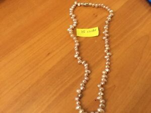 Pear necklace freshwater river from Peru 15 inches