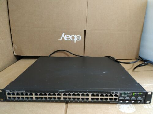 Dell Power Connect 6248 48-Port Gigabit Network Switch Tested working