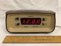VTG WESTCLOX BIG BEN 22028 RED LED DISPLAY DIGITAL DESK TABLE ALARM CLOCK