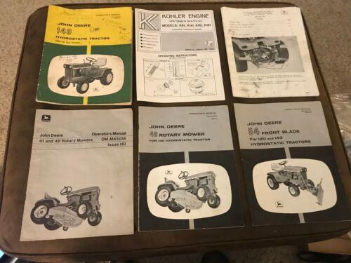 Vintage John Deere 140 Tractor, Mower, Blade,  Manuals