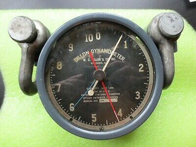 Vtg Wc Dillon Dynamometer Chicago Illinois 1000 Lbs Serial An 11689