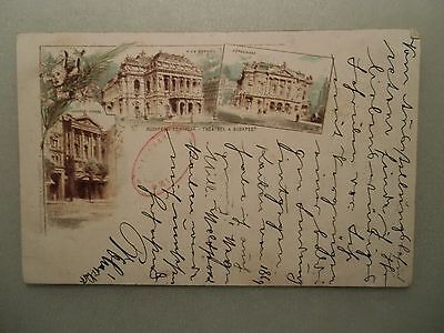 Ansichtskarte Ungarn Budapest  1898 ? Budapeströl Theater