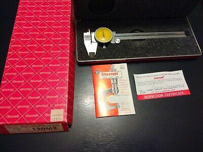 Vintage Starrett 120 Mz Dial Caliper Machinist Tool Case Box Ammo Reloading