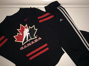Girls Lot #8 - Size 10/12 Nike Team Canada Top and Adidas Pants