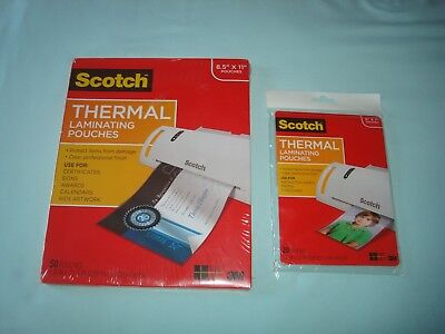 Scotch Thermal Laminating Pouches Tp3854-50 Tp5903-20 New 50 20 Count 3m