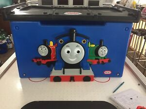 Thomas the train toy box with small track