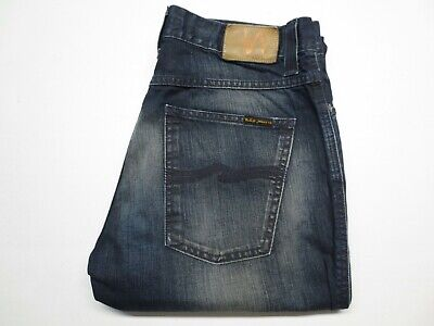 Men's Nudie Jeans Co SLIM JIM Blue Denim Jeans size 34x31