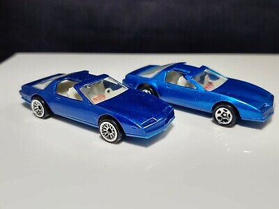 VINTAGE HOT WHEELS 80's FIREBIRD TRANS AM BLUE w  MINT CONDITION VARIATION LOT