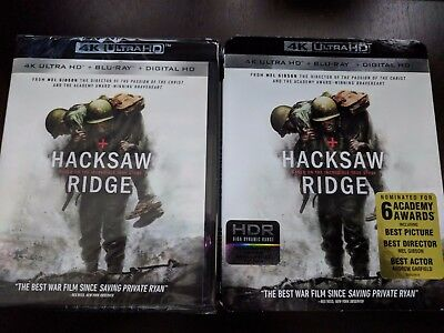 Used, Hacksaw Ridge [4K Ultra HD + BluRay + Digital HD] BRAND NEW! W/SLIPCOVER  for sale  Fort Lauderdale