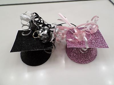 Black And Pink Glitter Graduation Balloon Weights   Used Once   Party City