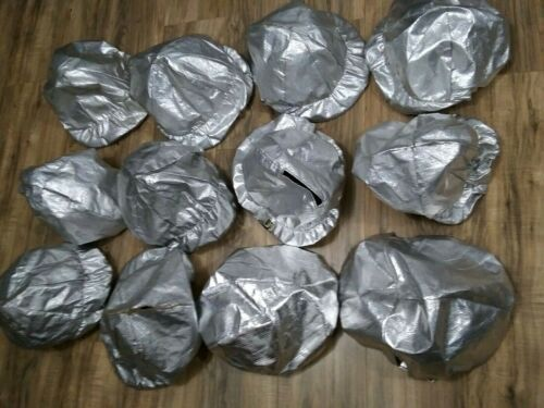 12 Used Aluminized PBI Proximity BONNETS for firefighter helmet (outer covers)