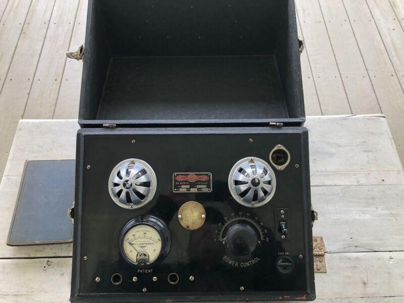 Antique A.S. Aloe Co. Physio-therapy Device Shock Quack Medicine Military