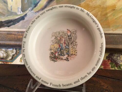 English Wedgwood Children Baby Dish Bowl  Peter Rabbit Vintage