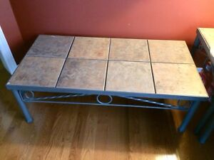 Ceramic coffee table and side tables