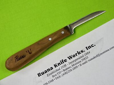 "Vintage US Custom Made Handmade RUANA Works "" L "" Speciality Utility Knife 1"