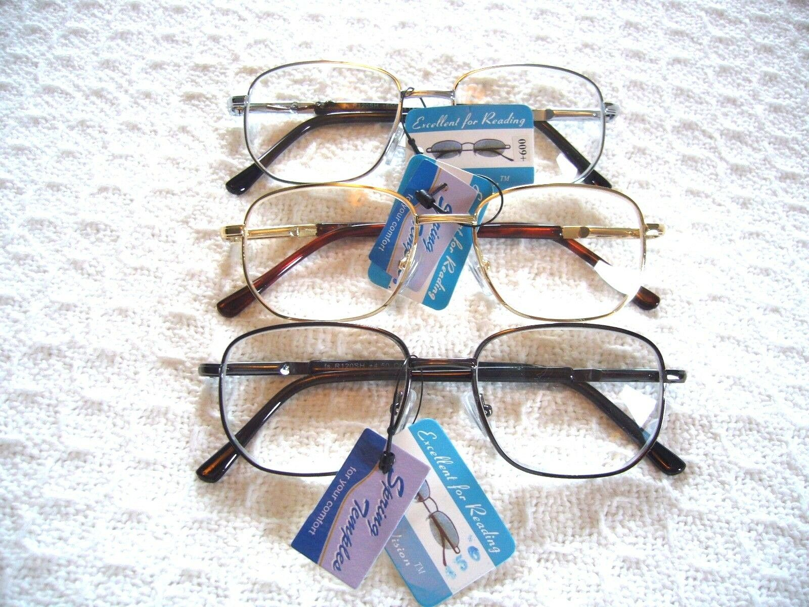 "MEN'S / LADIES ""EXTRA STRENGTH"" READING GLASSES ~R120SH META"