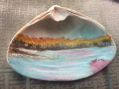 - Hand Painted Sea Shell by artist Victor Sansone.