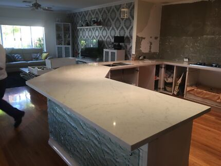 Stone bench tops installation cutting to suit, repairs