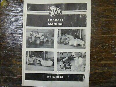 Jcb 505-19 505-22 Loadall Forklift Telehandler Operator Maintenance Manual