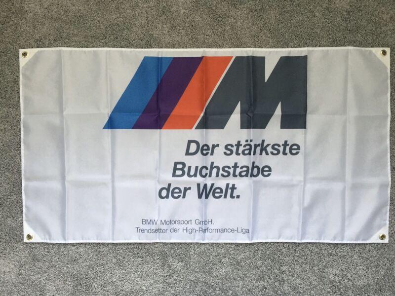 Ultra High Quality White / BMW Motorsport Flag, Germany High Performance Liga