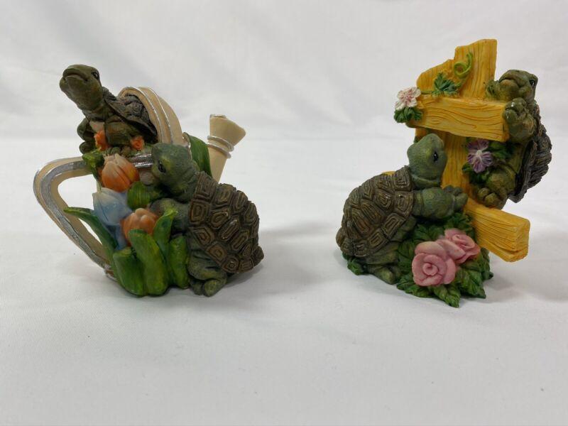 Decoration Family Turtle Statue Model Garden Figurine Tortoise Outdoor Home Yard
