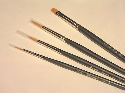 major brushes 4 assorted Orange synthetic sable artist paint brush watercolour for sale  Shipping to Ireland