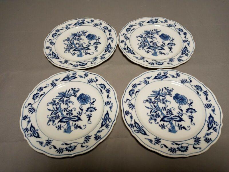 4 Blue Dan2 Blue Onion Salad Plates Rectangle Mark