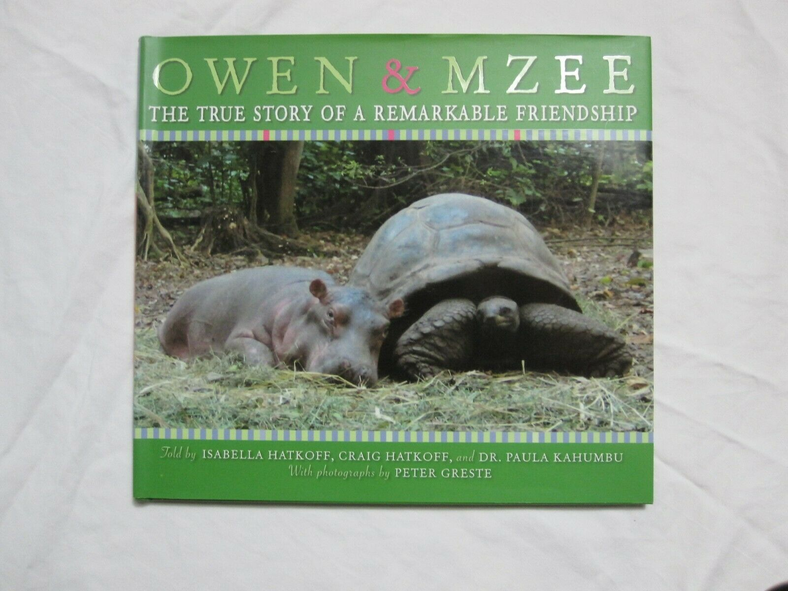 Full Set Of Owen And Mzee Hardcover Books 2 Sweet Stories Of 2 Unlikely Friends - $20.00