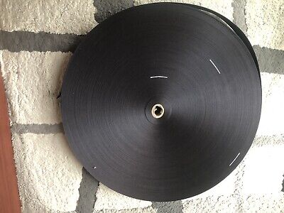 "1-7//8/"" 5 YARDS BLACK SEAT BELT WEBBING 7-PANEL 47mm WIDE 2/"""