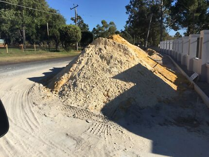 Limestone Road Base and Excess Sand
