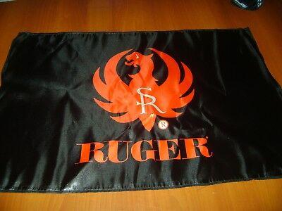 Ruger Revolver Handgun Flag Polyester Black Ruger Flag Deco Mancave 2d carry gun